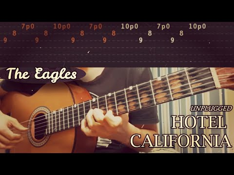 HOTEL CALIFORNIA (Live/Acoustic) - The Eagles - Full Guitar Lesson (TABS)