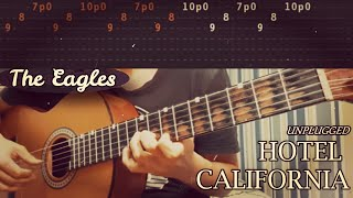HOTEL CALIFORNIA (Live/Acoustic) - The Eagles - Complete Guitar Lesson (TABS)