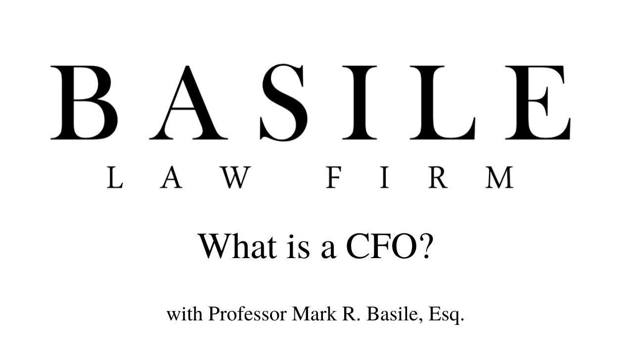 What is a CFO?