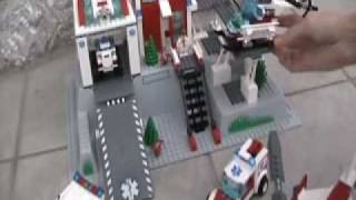 Lego City 7892 Hospital, 7890 Ambulance, 7902 Doctor's Car, 7903 Helicopter Rescue!!!