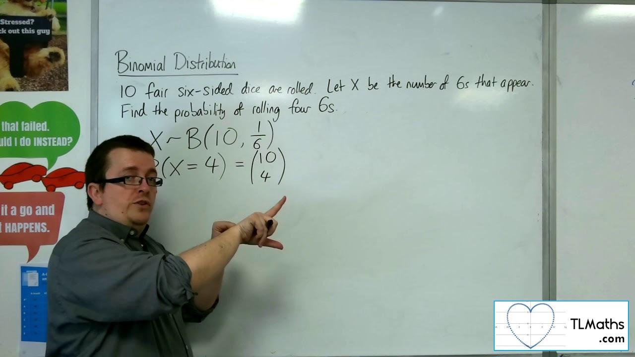 A-Level Maths: N1-16 [Binomial Distribution: Using the Formula]