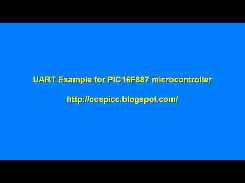 UART Example for PIC16F887 microcontroller - YouTube