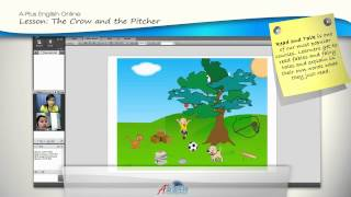 A-Plus English Online Video: The Crow & the Pitcher | Learning English Grammar | English Lessons