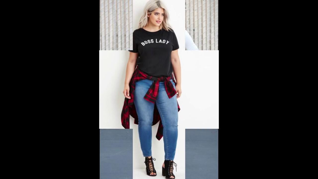 Мода для Полных Женщин 2018-2019|моды 2019 девушек