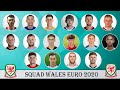 WALES FULL SQUAD FOR EURO 2021