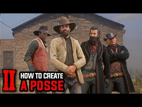 How to Create a Posse and Invite Friends - Red Dead Redemption 2 Online