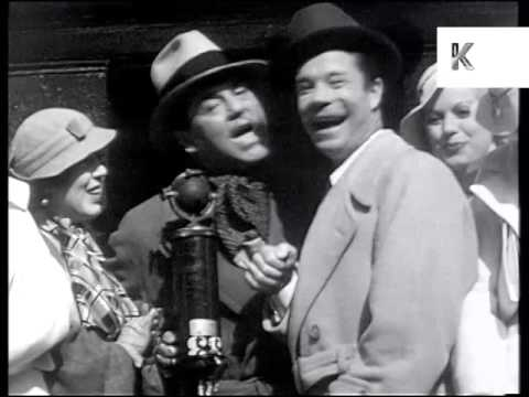 1933 Hollywood Stars Promote 42nd Street, Ginger Rogers, Archive Footage