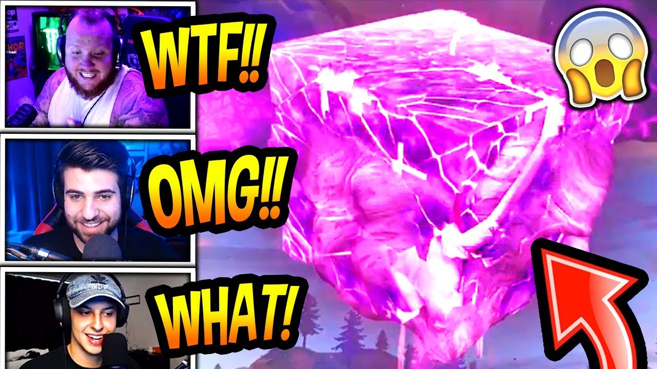 streamers-react-to-new-cube-explosion-event-insane-fortnite-epic-funny-moments