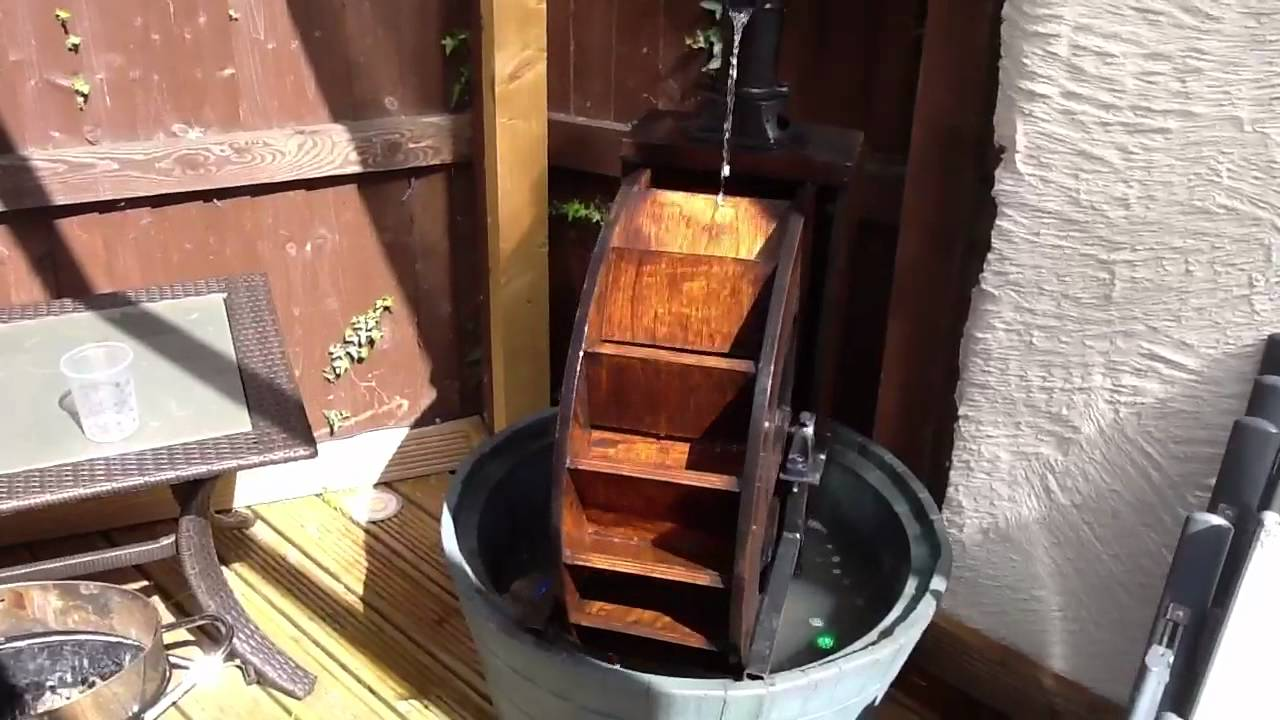 Genial Waterwheel Garden Water Feature Home Built