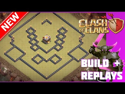 New EPIC Th11 War/Trophy Base Design (Build+Replays) | The Stone Wall | Bomb Tower + 25 Walls Update