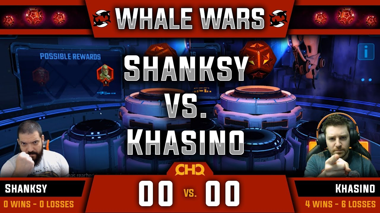 Whale Wars - Ep  12 - Shanksy vs Khasino (Sponsored by ClanHQ) - MARVEL  Strike Force - MSF