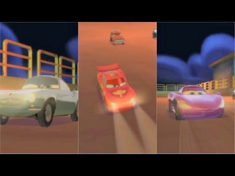 Cars 2 Battle Race with Lightning McQueen, Finn McMissile, Holley Shiftwell in Oil Rig Run |