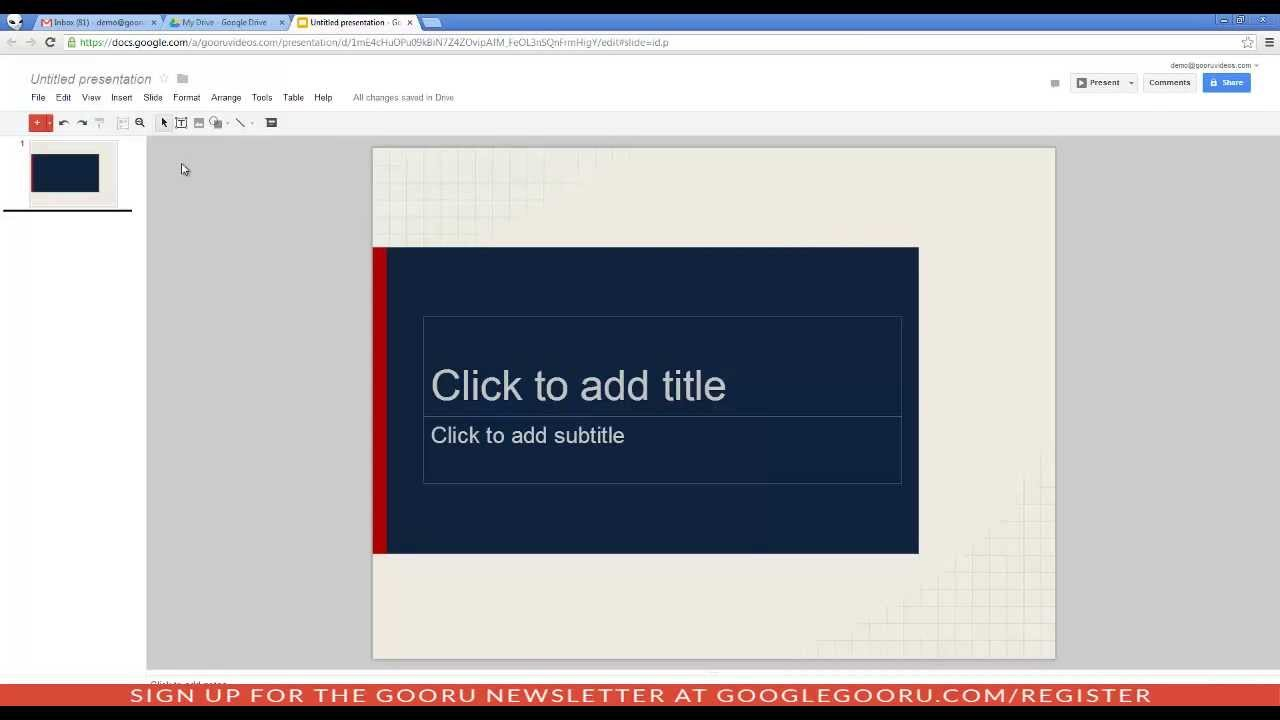 how to create a google presentation updated 7 3 13 youtube