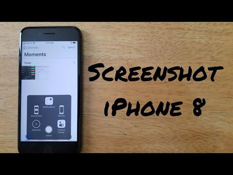 How to take a screenshot on iphone 8 youtube
