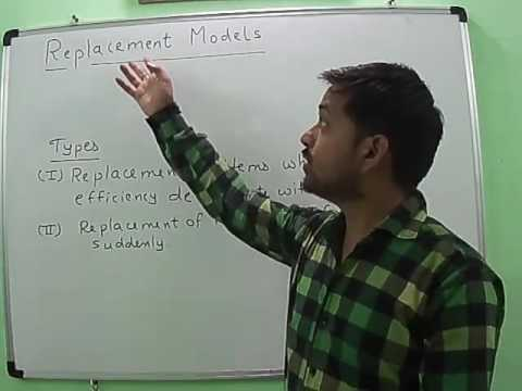 Replacement Model I [CASE-I Value of Money does not change with time] in Operations Research