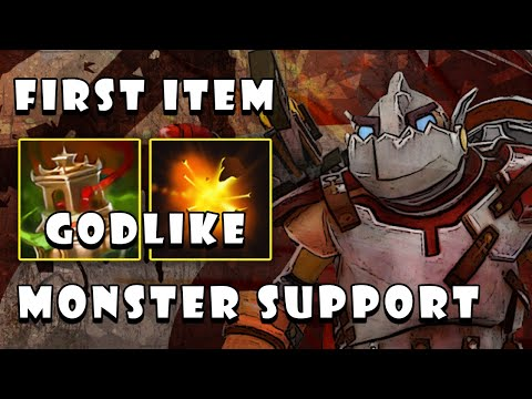 How To Play Monster Support Clockwerk With First Item Spirit Vessel   Guides Gameplay - Dota 2 7.26