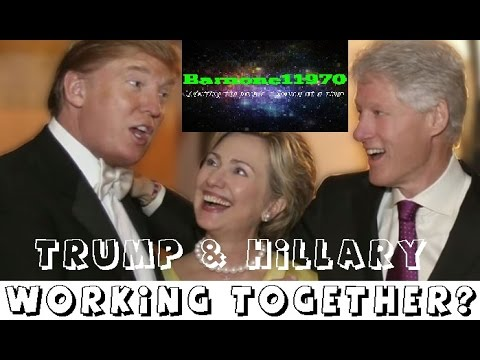 Trump & Hillary working together so Obama gets 3rd term.
