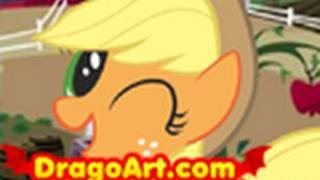 How to Draw Applejack, Applejack,My Little Pony,Step by Step
