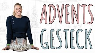 GLITZER WINTERWALD IN 2 VARIATIONEN - ADVENTSDEKO DIY