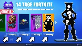 All 14 FREE Skins on THIS Days 🎁 | Fortnite 14 Days Gifts German