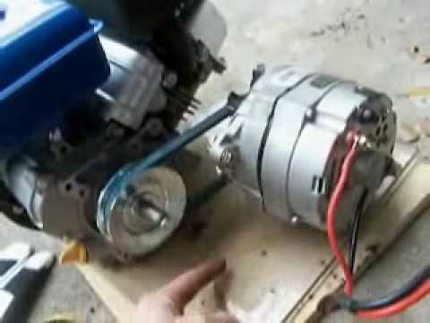 How to Build an Engine/Alternator Generator   2/2 Putting it Together