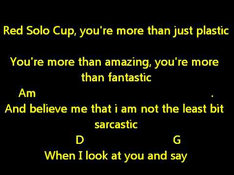 Toby Keith Red Solo Cup Lyrics And Chords Youtube