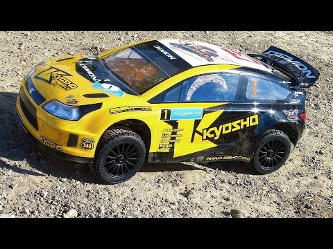 RC ADVENTURES - Jumping a Kyosho 1/9 DRX VE Demon 4WD EP Orion Powered Brushless Rally Car
