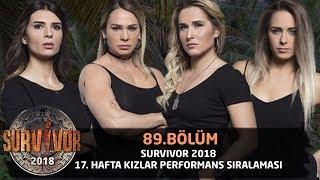 Survivor 2018 | 17. Hafta Kızlar Performans Sıralaması | 89. Bölüm | Survivor 2018