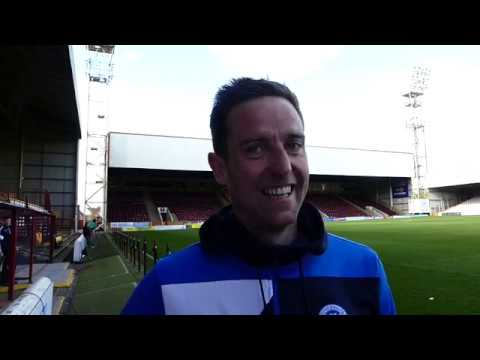 Steven Maclean speaking to Saints TV following the game at Motherwell on 5th May 2018.