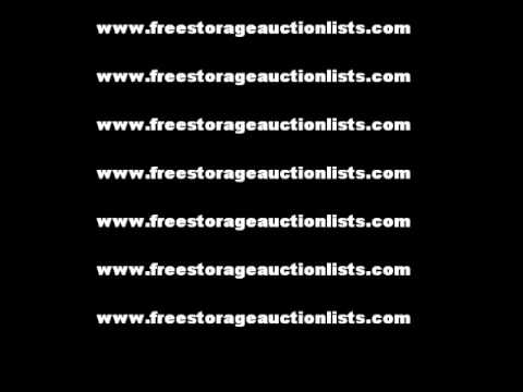 List Of Upcomming Texas Storage Self Storage Auctions June 2011