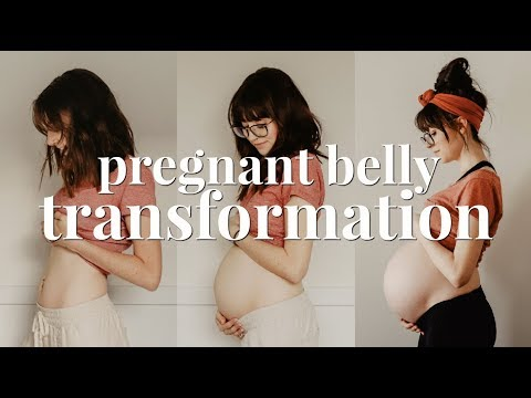 PREGNANT BELLY GROWTH | 7 - 40 WEEKS TRANSFORMATION | SECOND