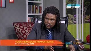 Communications Coordinator Gushwell Brooks on ETV speaking about Human Rights Day