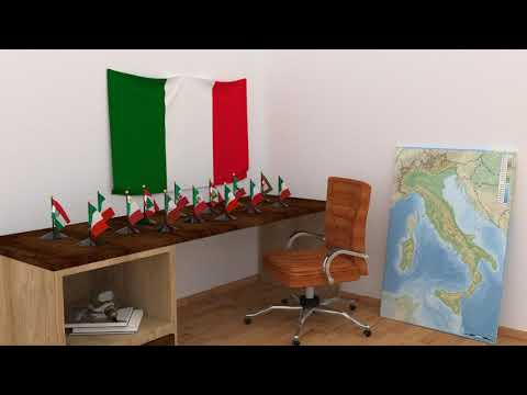 Himno y banderas de Italia | Italy flags and anthem