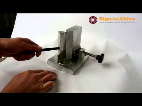 Dual-axis Metal Channel Letter Angle Bending Tools