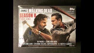 Topps The Walking Dead Season 8 trading cards. 1 relic guaranteed per box