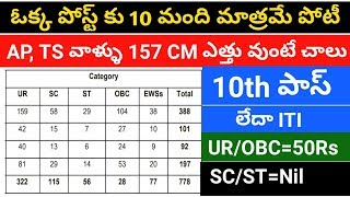 latest government jobs with 10th pass qualification || job updates in telugu || BRO recruitment 2019