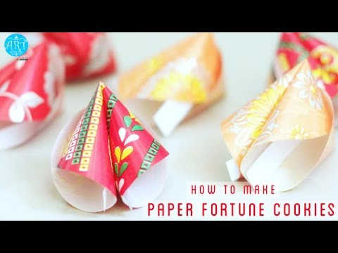 How to make Paper Fortune Cookies - YouTube