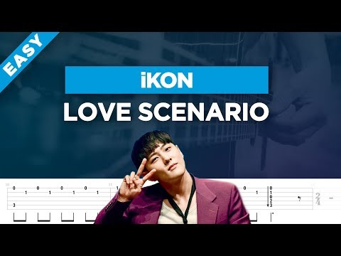 🎸 IKON Love Scenario Easy Guitar Cover + Lesson With Tabs