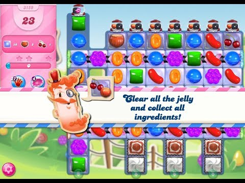 Candy Crush Saga Level 3159 (23 moves , No boosters)