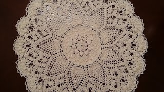 Crochet Doily - Splendid Pineapples Doily Part 10 - Final Part