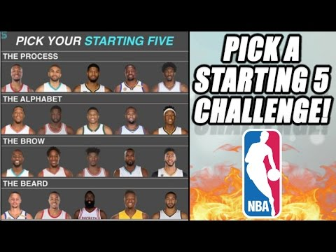 PICK A STARTING 5! NBA CHALLENGE!! WILL YOUR TEAM WIN IT ALL?!