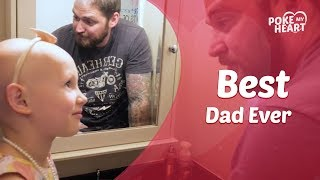 Dad Shaves Head To Support Daughter With Alopecia