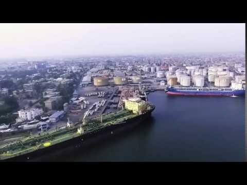 The city of Apapa, Nigeria (port city) west