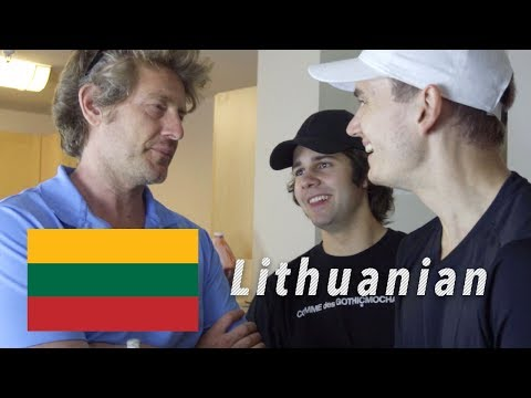 TEACHING THEM HOW TO SPEAK LITHUANIAN!