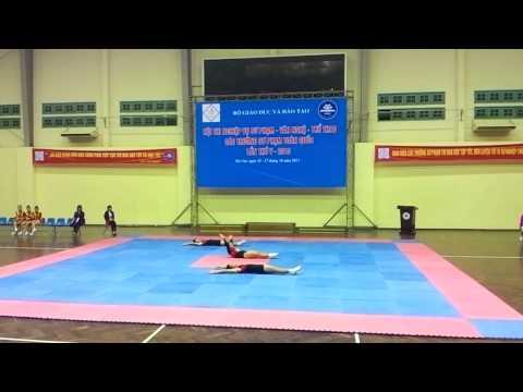 Aerobic Bài 3 người Trường Đại Học Sư Phạm TDTT Hà Nội