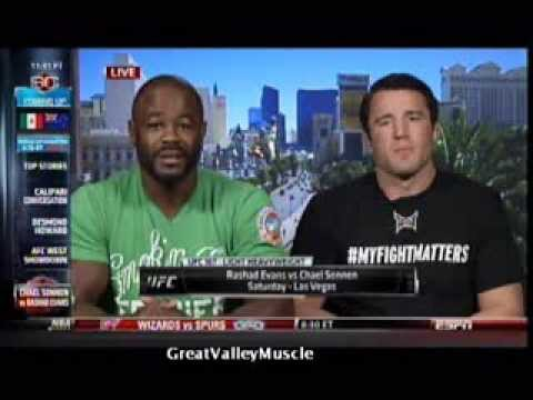Rashad Evans & Chael Sonnen - two friends fighting each other on Sportscenter