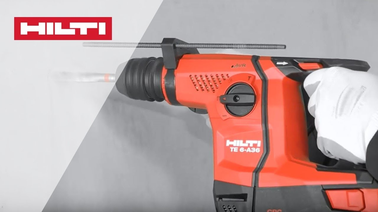 HOW TO use the Hilti TE 6-A36 cordless rotary hammer and accessories