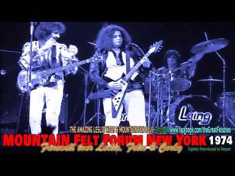 Leslie West MOUNTAIN Farewell Tour Madison Square Garden's Felt Forum 12-31-74
