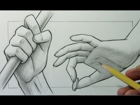 How to Draw Hands, 2 Different Ways