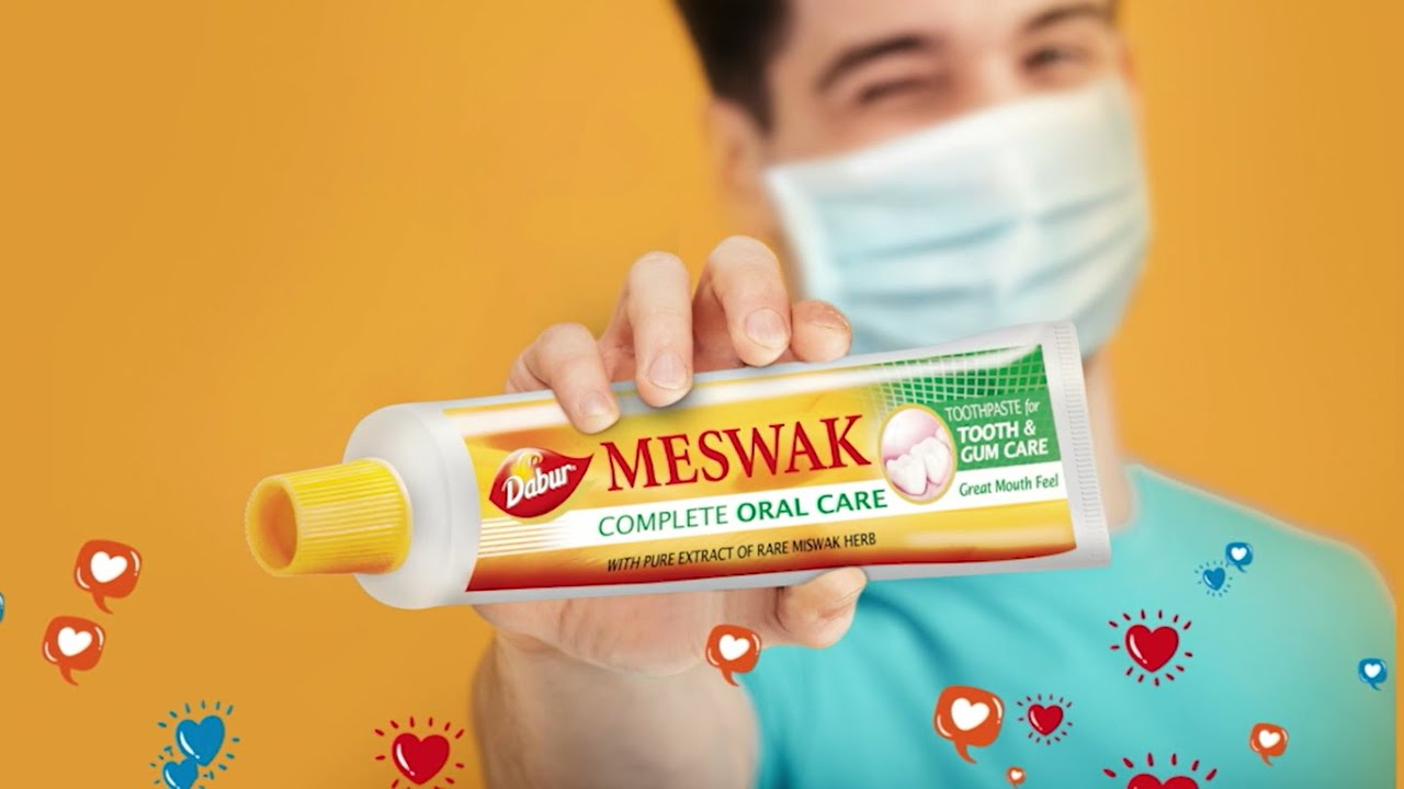 Stop germs build-up behind that mask | Scientifically proven Dabur Meswak (Telugu)